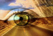Desert road with an eye